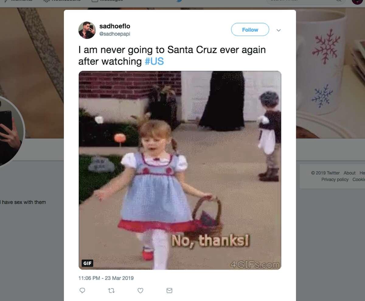 Moviegoers who saw Jordan Peele's psychological horror film 'Us' this weekend took to Twitter to express their fear of the Santa Cruz Boardwalk.