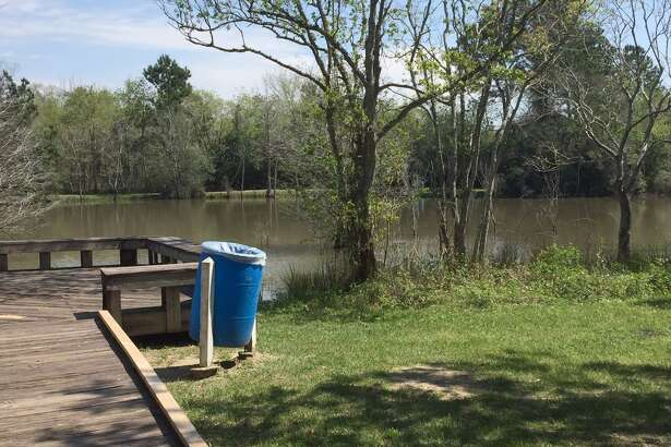 Rustic Oaks Park is a TPWD Community Fishing Lake in League City and is stocked with catfish, perch and bass,