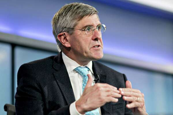 Stephen Moore, visiting fellow at the Heritage Foundation, speaks during a Bloomberg Television interview in Washington, D.C., on March 22, 2019. President Donald Trump said he's nominating Moore, a long-time supporter of the president, for a seat on the Federal Reserve Board.
