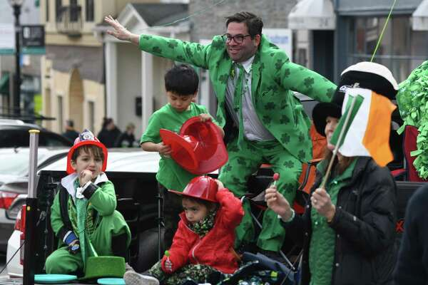 Photos from the annual St. Patrick's Day Parade in Greenwich, Conn. Sunday, March 24, 2019. Presented by the Greenwich Hibernian Association, the parade featured Irish bagpipe music, Irish dancers, floats from many local organizations, as well as Greenwich police, fire and EMS. Monsignor J. Peter Cullen, from St. Michael the Archangel Parish in Greenwich, served as the parade's Grand Marshal.
