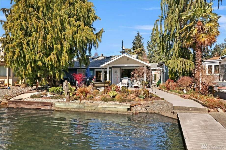 Bitter Lake cottage has its own dock and 50 feet of waterfront