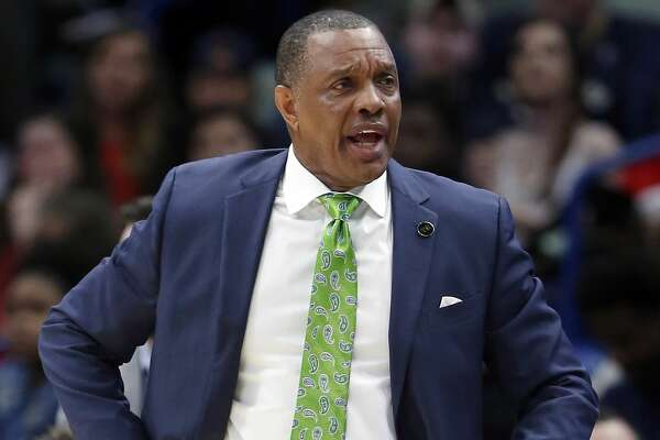 New Orleans Pelicans head coach Alvin Gentry during the second half of an NBA basketball game in New Orleans, Saturday, March 16, 2019. The Suns won 138-136 in two overtimes. (AP Photo/Tyler Kaufman)