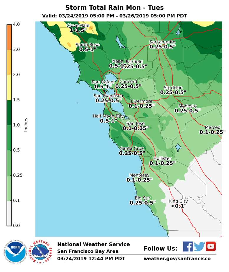 Rain, wind to bring 'nuisance' impacts to the Bay Area