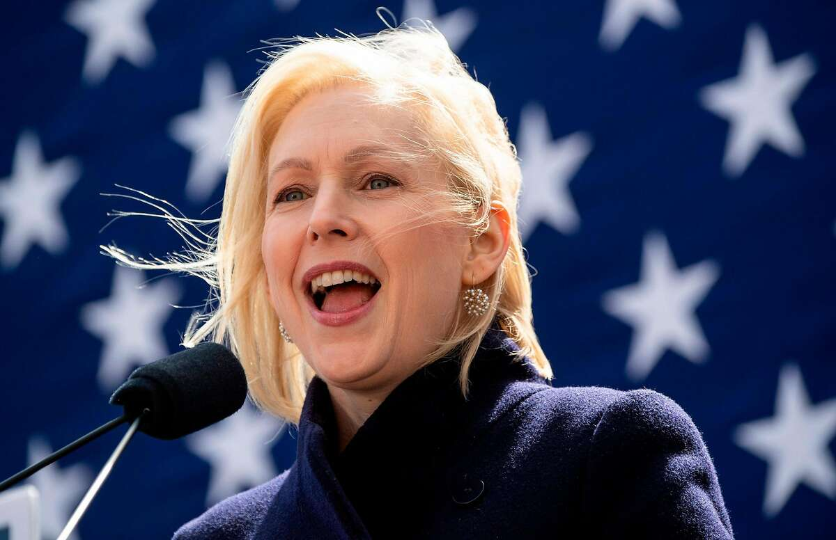 Democratic presidential candidate Kristen Gillibrand speaks during the official kick-off rally of her campaign for US president on March 24, 2019 in New York. (Photo by Johannes EISELE / AFP)JOHANNES EISELE/AFP/Getty Images