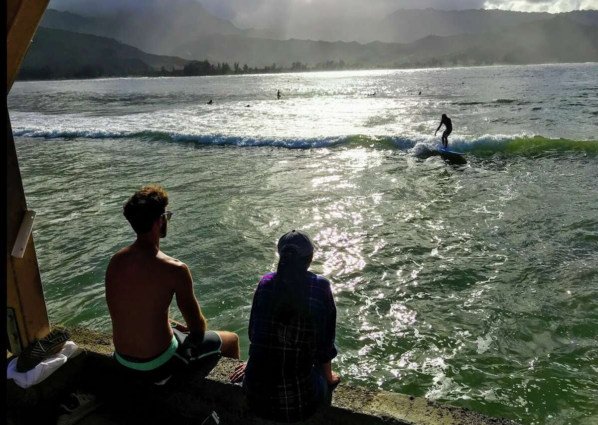 April-May and October are some of the cheapest times of year for Hawaii (Hanalei, my favorite place in Hawaii, has been ravaged by recent storms. But locals still know how to have fun on the local pier)