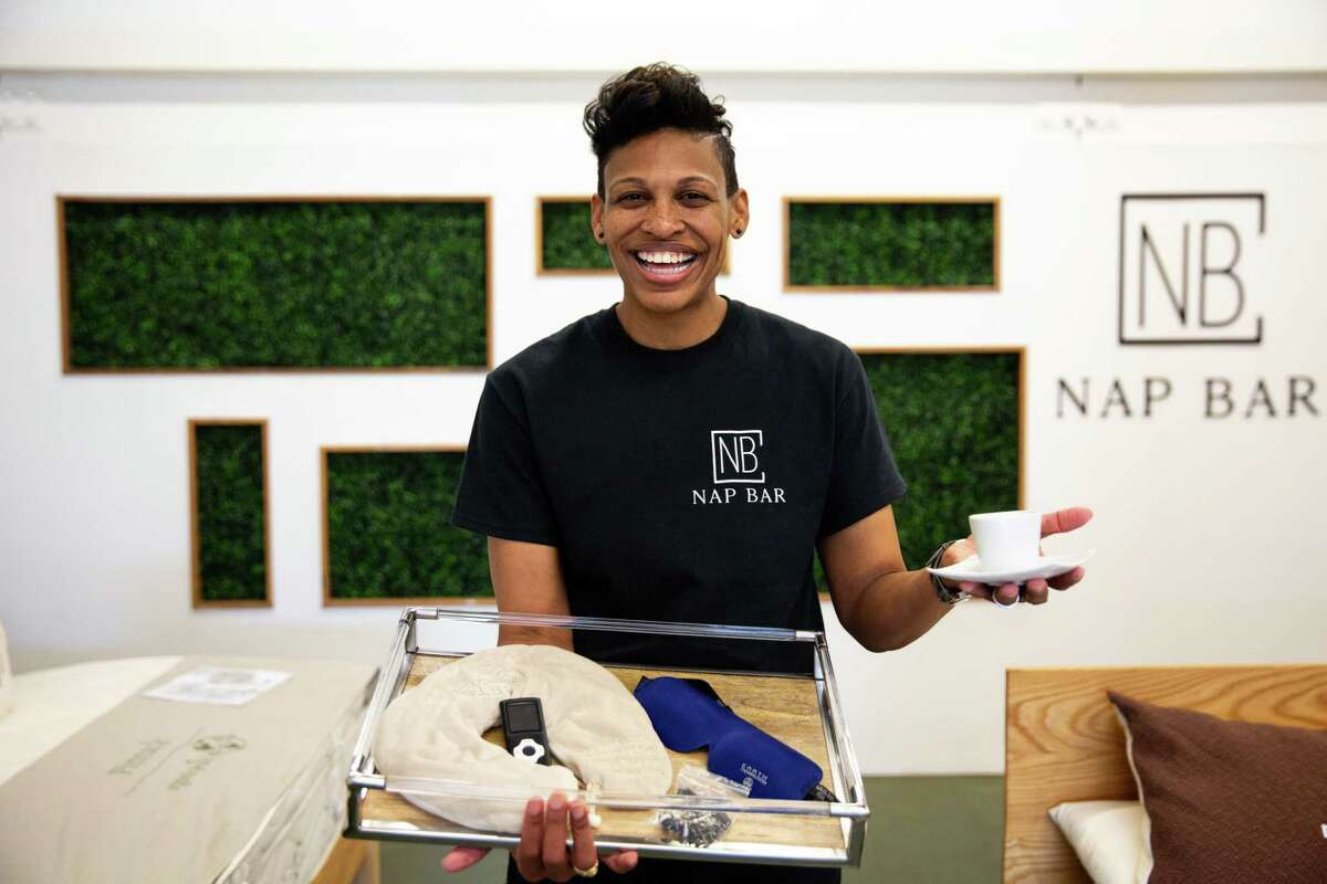 Khaliah Guillory, 39, is the founder and president of Nap Bar, a new health and wellness venture providing a luxury nap service to Houstonians. The service provides 20 or 26 minute naps and includes a la carte items such as shower access, massages and espresso.