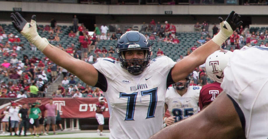 PHOTOS: Free agents Brandon Hitner #77 of the Villanova Wildcats celebrates after the game at Lincoln Financial Field on September 1, 2018 in Philadelphia, Pennsylvania. (Photo by Mitchell Leff/Getty Images) Browse through the photos to see the best available free agents this offseason. Photo: Mitchell Leff/Getty Images / 2018 Mitchell Leff