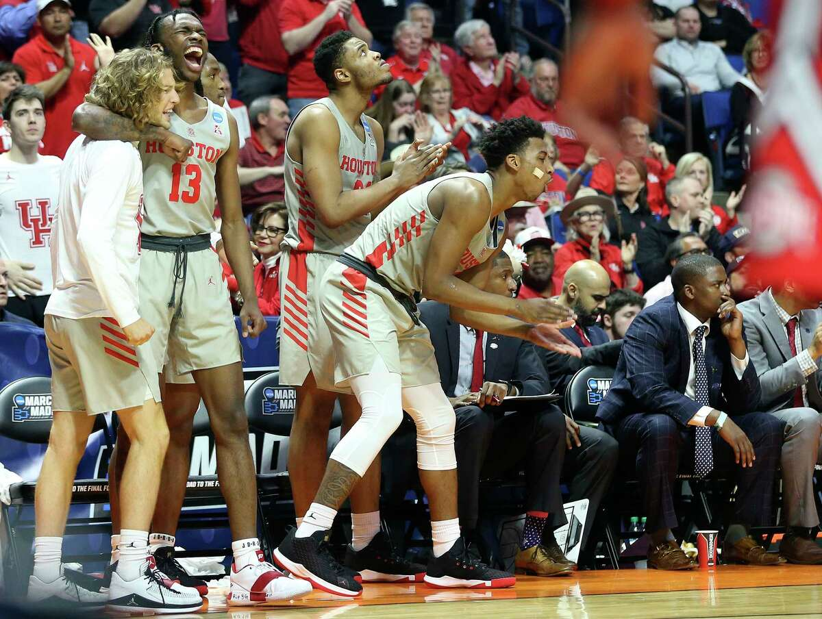 A second-round win over Ohio State in 2019 sent UH to its first NCAA Tournament Sweet 16 berth in 35 years.