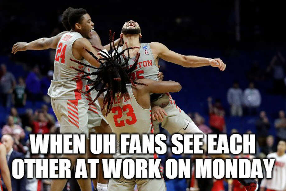 PHOTOS: The best memes from UH's move into the Sweet 16 of the NCAA Tournament Source: Matt Young Browse through the photos above for a look at some of the best memes from the first weekend of the NCAA Tournament ... Photo: Matt Young