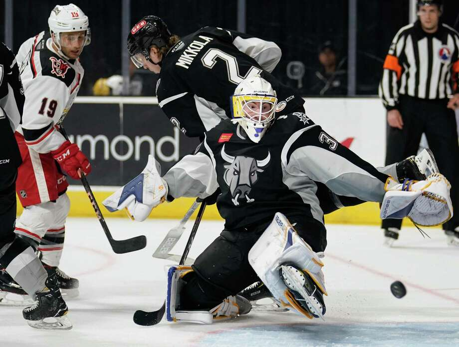 The Grand Rapids Griffins play the San Antonio Rampage during the first period of an AHL hockey game, Sunday, March 24, 2019, in San Antonio. (Darren Abate/AHL) Photo: Darren Abate, FRE / Darren Abate/AHL / Darren Abate Media, LLC/AHL/San Antonio Rampage
