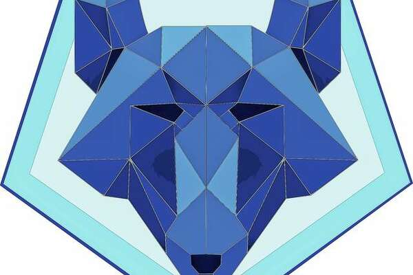 Waverly High School senior Brock Casson created this graphic-art wolf using the vector-based open-source graphics program Inkscape as part of a school art class.