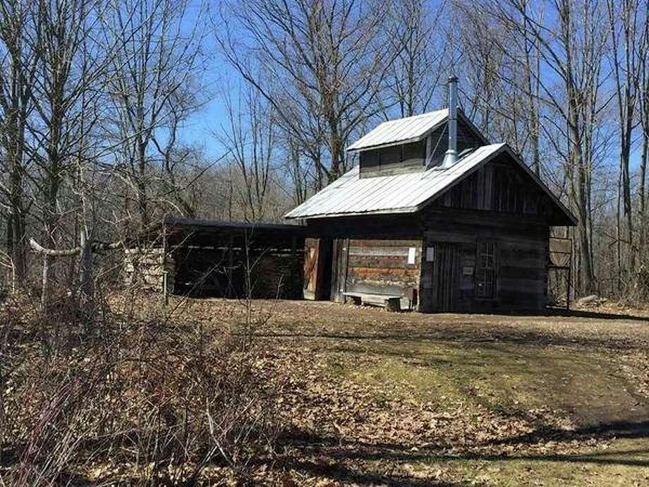 The Chippewa Nature Center's sugarhouse. (Victoria Ritter/vritter@mdn.net)
