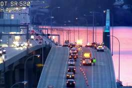 Washington State Patrol troopers were investigating after someone was shot and killed on the middle of the state Route 520 bridge Monday morning.