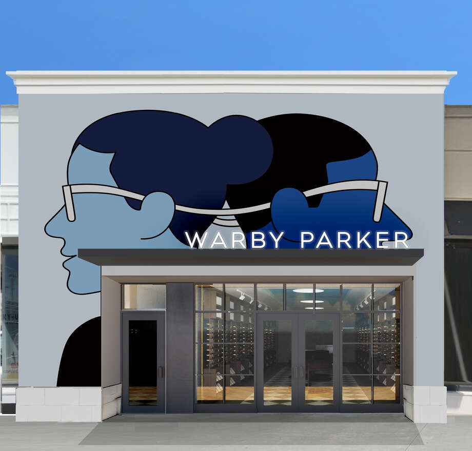 Original murals by Dutch illustrator Seb Agresti are found inside and out Warby Parker's new Highland Village store at 4078 Westheimer. The store opens Saturday, March 30, 2019. Photo: Warby Parker