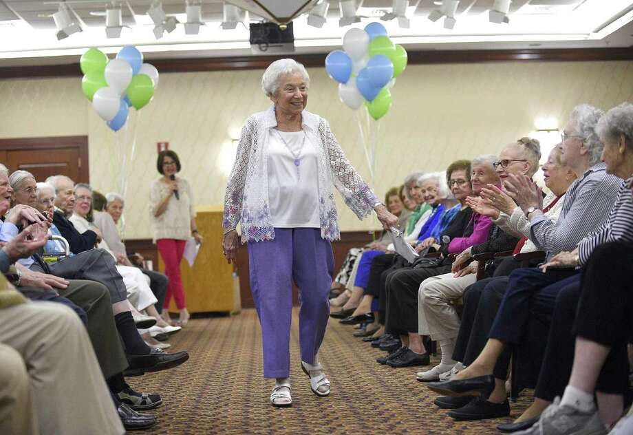 The Hope in Motion Fashion Show at Edgehill Retirement Community in 2018 in Stamford. Photo: Matthew Brown / Hearst Connecticut Media / Stamford Advocate