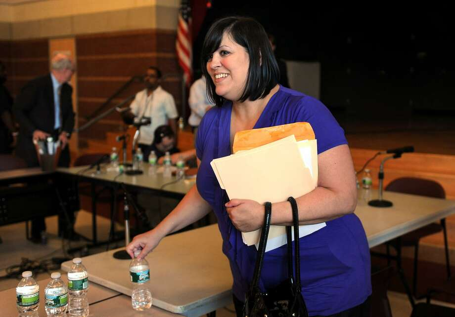Former Bridgeport Board of Education member Maria Pereira at a special meeting held at Cesar A. Batalla Elementary School in Bridgeport, Conn. on Tuesday July 5, 2011. Photo: Christian Abraham / Christian Abraham / Connecticut Post