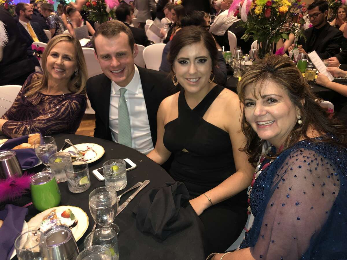 Mardi Gras: Cindy Delgado, from left, Eric Hale, Meagan Worrell and Shelly Worrell