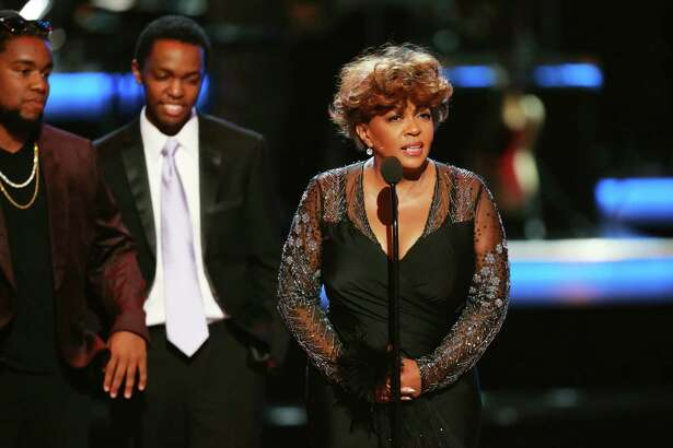 LOS ANGELES, CA - JUNE 24: Honoree Anita Baker accepts the Lifetime Achievement Award onstage at the 2018 BET Awards at Microsoft Theater on June 24, 2018 in Los Angeles, California.