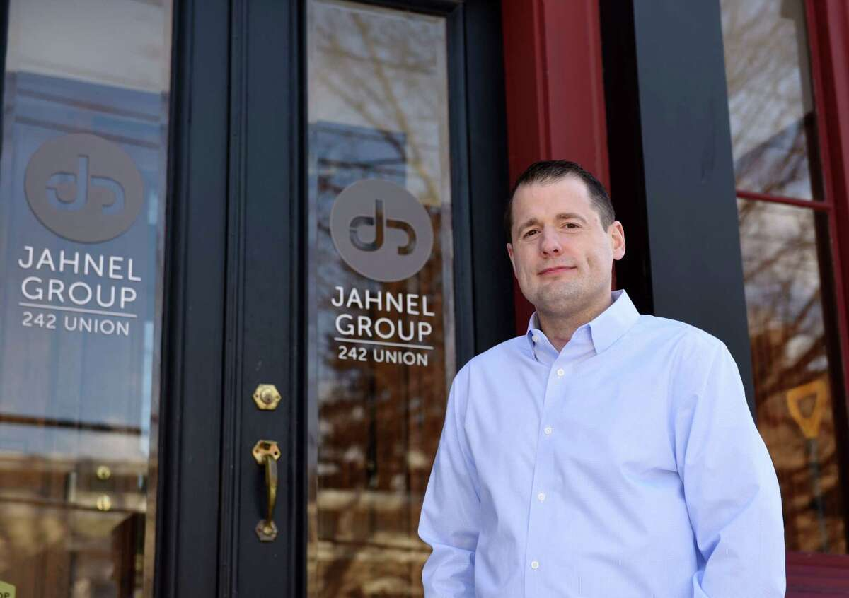 Jahnel Group CEO Darrin Jahnel stands for a portrait on Thursday, March 7, 2019 at the Jahnel Group office in Schenectady, NY. (Phoebe Sheehan/Times Union)