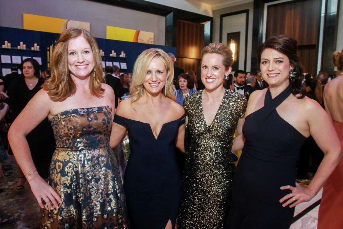 Angie McBeth, from left, Christine Turner, Kelly Beth Hapgood and Lindsey Raspino at the Theatre Under the Stars 50th anniversary gala at the Post Oak Hotel.