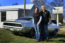 (L-R): V8 Speed & Resto Shop and V8TV Productions owners Kelle and Kevin Oeste.