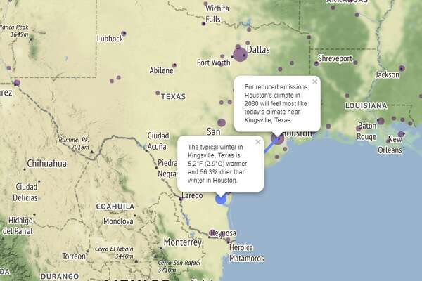 Houston On Map Of Texas.Map Shows How Climate Change Will Affect Houston 60 Years From Now
