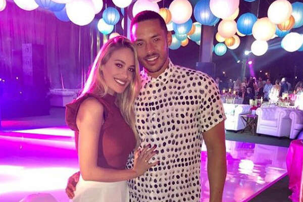 Astros shortstop Carlos Correa and his fiancee Daniella Rodriguez hung out at the birthday party for Whitney Crane, wife of Astros owner Jim Crane.