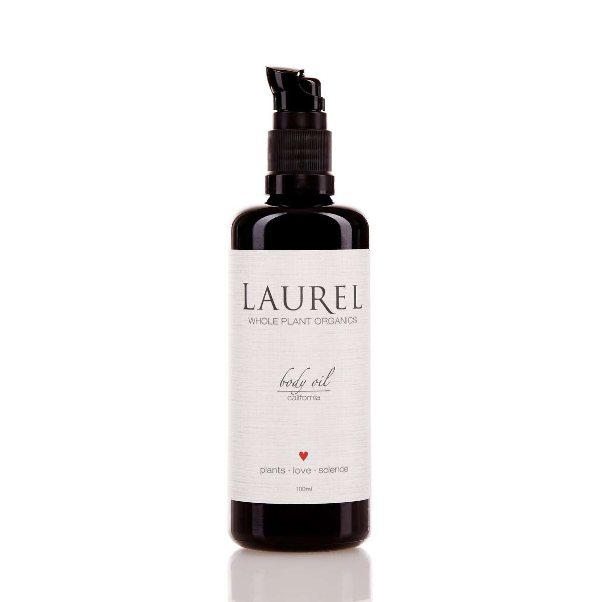 Laurel Shaffer of Laurel Whole Plant Organics formulates her skin and body care products with crystals to help customers connect with their own bodies and sense of themselves. Pictured is the California Body Oil.