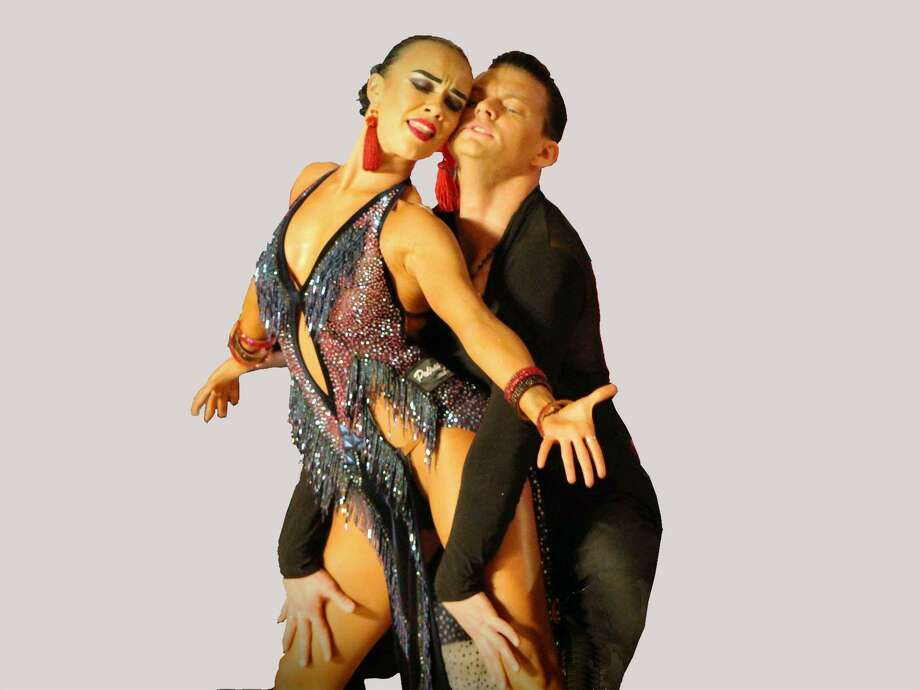 Ivan Kudashev and Ksusha Sokolova, a Latin dance and showdance couple from Russia, will present their show at the Premier Ballroom's monthly dance in the Holy Trinity Greek Church Community Center ballroom in Bridgeport March 30. Photo: Premier Ballroom / Contributed Photo