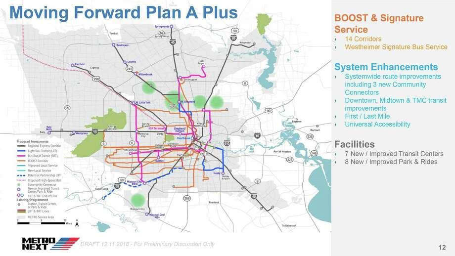 Houston Texas Subway Map.Metro Presents Transit Plan As Houston Grows Houston Chronicle