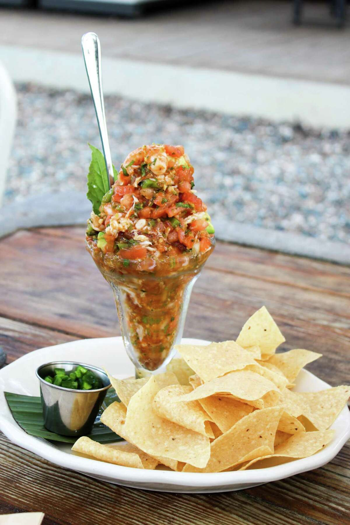 Campechana, or seafood cocktail, remains one of the most popular dishes at Goode Co. Seafood, where it was introduced to Houston in 1986.