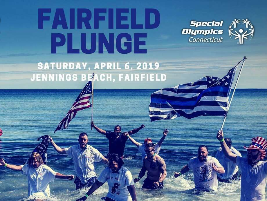 Newtown police officers will participate in the Fairfield Penguin Plunge at Jennings Beach on April 6, 2019. Photo: Connecticut Law Enforcement Torch Run For Special Olympics / Facebook