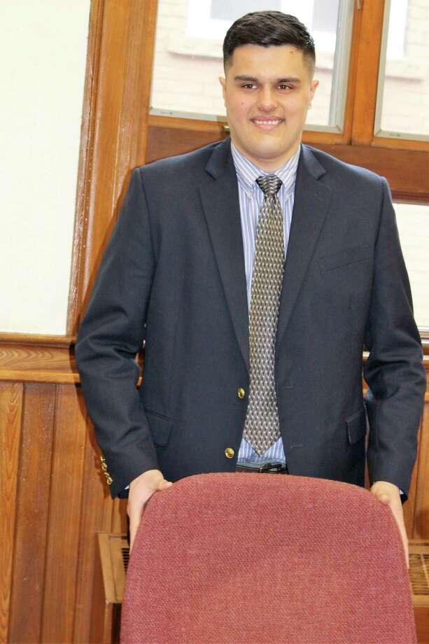 Frank DeLibero, chosen by Ansonia Mayor David Cassetti to serve the remainder of DeLibero's late father's aldermanic term. Photo: Jean Falbo-Sosnovich / For Hearst Connecticut Media