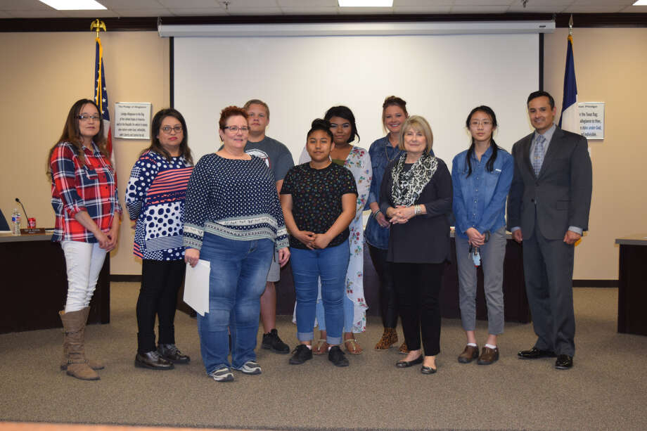 Plainview ISD art students were recognized Thursday during a school board meeting. Photo: Ellysa Harris/Plainview Herald