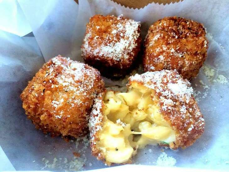 Fried mac-and-cheese balls from 225 Urban Smoke