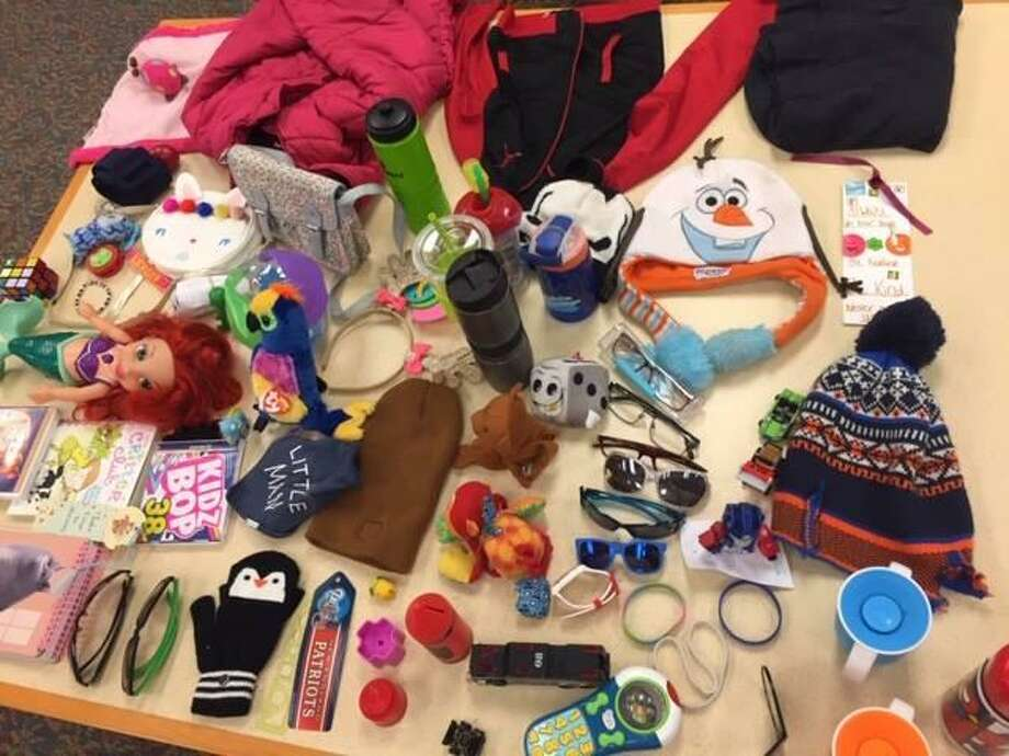 A look at some of the items in the lost in found at Edith Wheeler Memorial Library, 733 Monroe Turnpike. Items not claimed by April 1, 2019 will be discarded. Photo: Contributed / Edith Wheeler Memorial Library