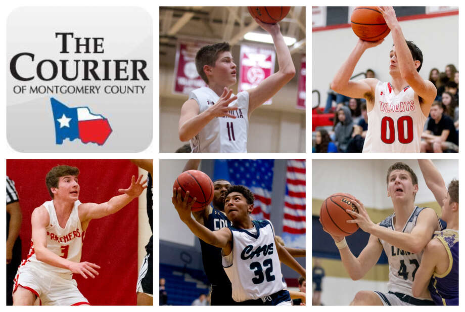 Magnolia' Connor Lindvall, Splendora's Jagger Kennedy, Caney Creek's Troy Eubanks, College Park's Ty Buckmon and Lake Creek's Hudson Boyd are The Courier's nominees for Newcomer of the Year. Photo: Staff Photos