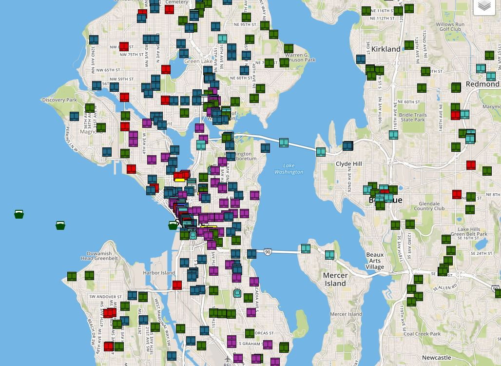You can now see all transit in Seattle on one map, at the same time