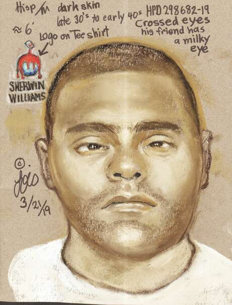 The Houston Police Department is searching for a cross-eyed suspect accused of killing two outside a bar March 9, 2019. Anyone with information is urged to call HPD's homicide detectives at 713-308-3600 or Houston Crime Stoppers at 713-222-TIPS (8477).