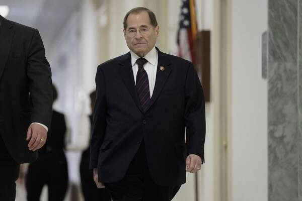 House Judiciary Committee Chairman Jerrold Nadler, D-N.Y., returns to Capitol Hill following the completion of the special counsel Robert Mueller's investigation of whether President Donald Trump or his campaign colluded with Russians to interfere in the 2016 presidential election, at the Capitol in Washington on Monday.