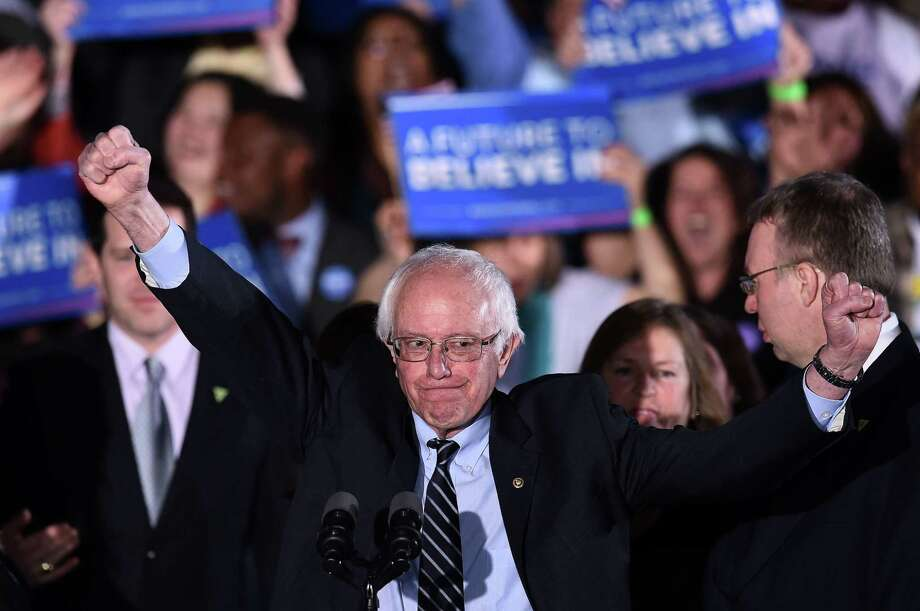 No Democratic presidential candidate is proposing full-blown socialism, not even self-described democratic socialist Bernie Sanders, shown here in New Hampshire in 2016. In constantly decrying socialism, President Trump is using a tired — and lazy — argument. Photo: JEWEL SAMAD /AFP / Getty Images / AFP or licensors