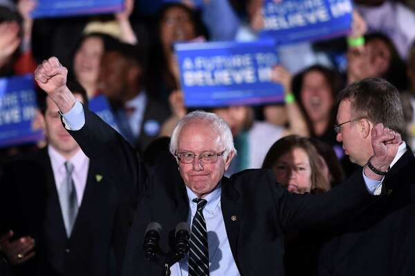 No Democratic presidential candidate is proposing full-blown socialism, not even self-described democratic socialist Bernie Sanders, shown here in New Hampshire in 2016. In constantly decrying socialism, President Trump is using a tired - and lazy - argument.