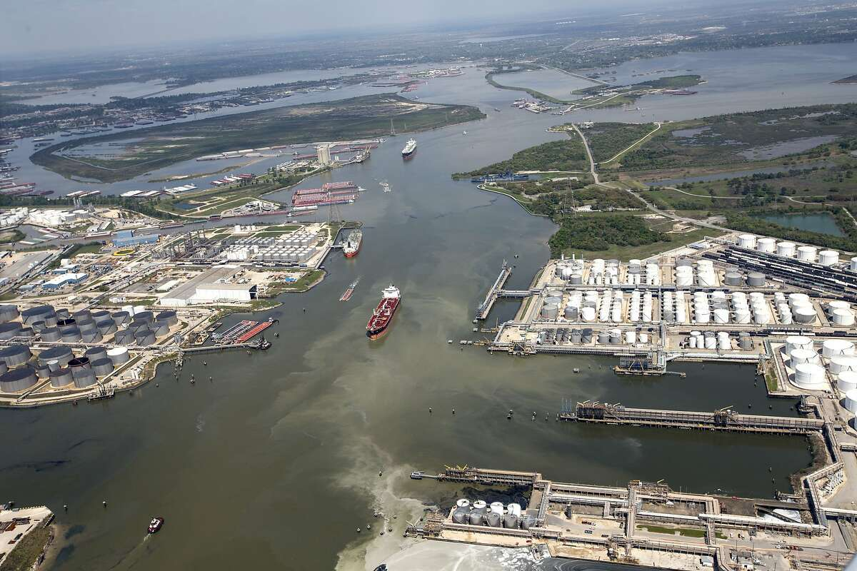 Shipping moves through the Houston Ship Channel on Wednesday, March 20, 2019, in Houston.