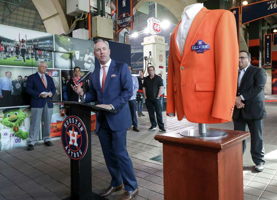 PHOTOS: Here's what the Astros Hall of Fame at Minute Maid Park looks like Reid Ryan, Houston Astros president of business operations, talks about the opening of the Houston Astros Hall of Fame Alley at Minute Maid Park on Monday, March 25, 2019, in Houston. Photo: Jon Shapley, Staff Photographer / © 2019 Houston Chronicle