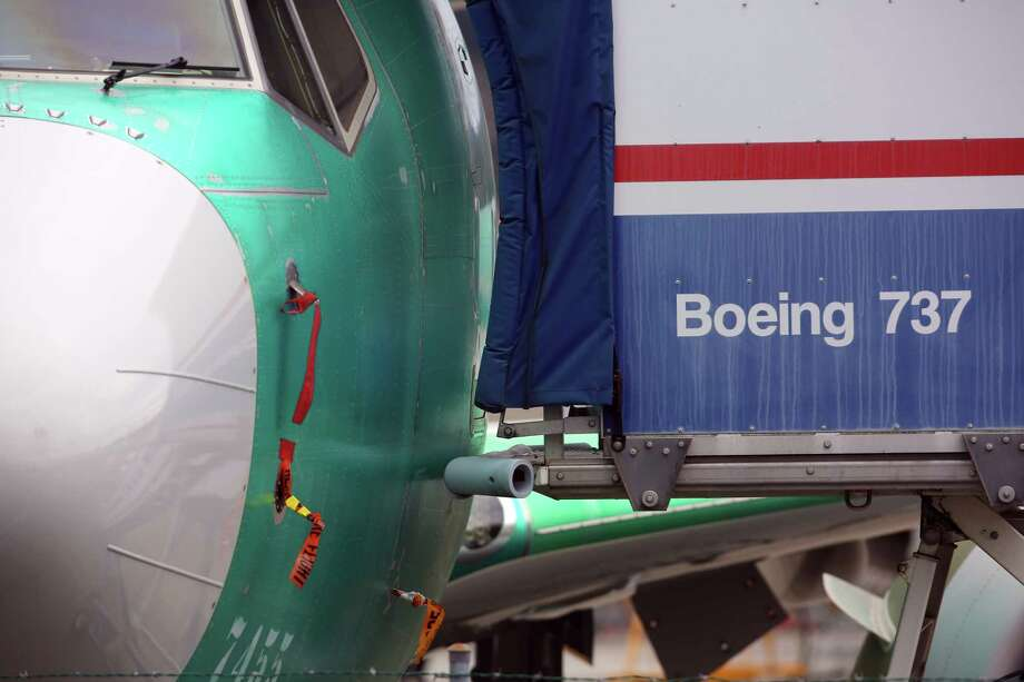 Dozens of 737 MAX jets are held at the Boeing facility in Renton as the FAA continues to keep the model grounded due to malfunctions leading to two 737 MAX 8 crashes since October, one in Indonesia and one in Ethiopia, which killed a combined 346 people, Monday, March 25, 2019. Photo: Genna Martin / seattlepi.com