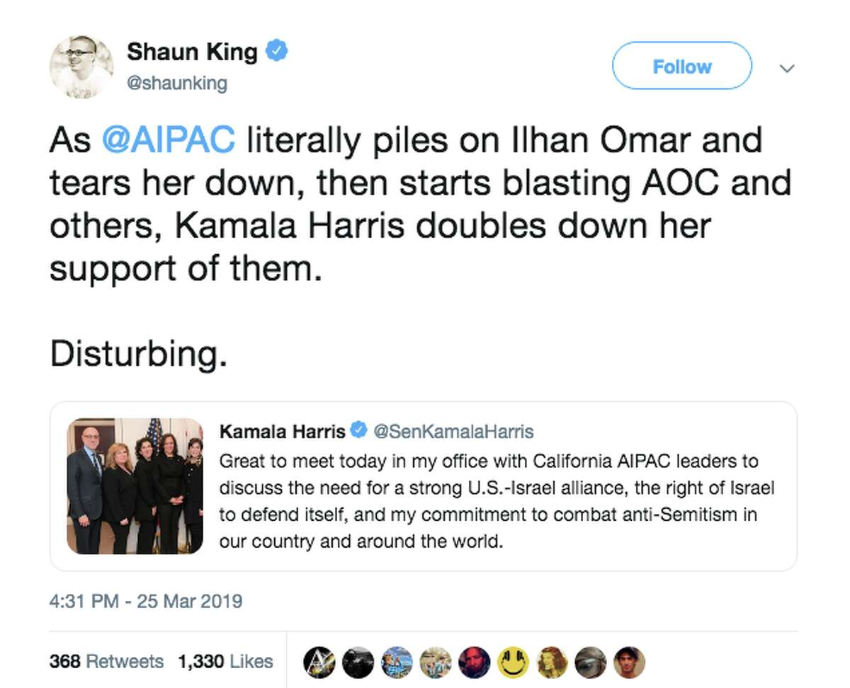 Kamala Harris drew fire from progressives after meeting with California AIPAC leaders in her Senate office.