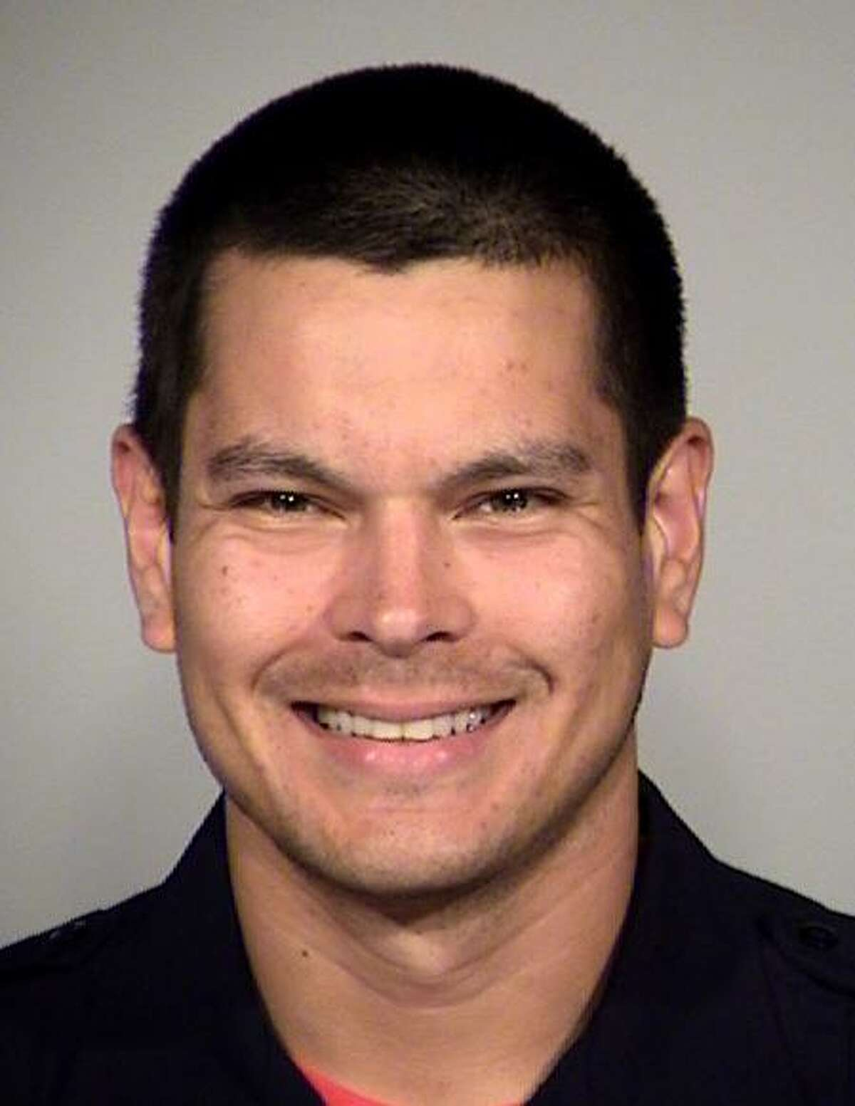 Officer Matthew Luckhurst, accused of feeding a human fecal sandwich to a homeless individual in San Antonio.