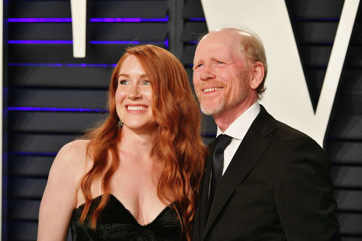 Actress Paige Howard and her father, director Ron Howard, attend the 2019 Vanity Fair Oscar Party at the Wallis Annenberg Center for the Performing Arts on February 24, 2019 in Beverly Hills, California. The American Red Cross will honor Ron Howard at its annual Red and White Ball, scheduled for April at Westchester Country Airport.