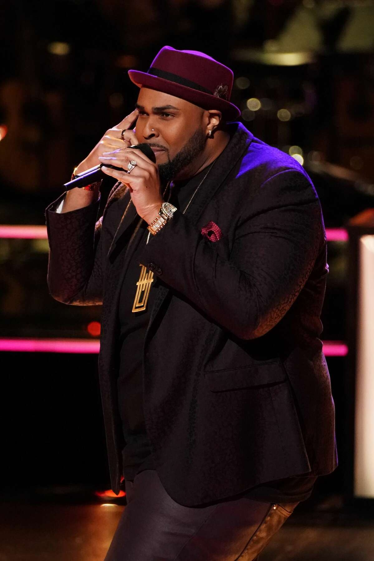 THE VOICE -- Battle Rounds -- Pictured: Shawn Sounds -- (Photo by: Tyler Golden/NBC) Houston teacher Shawn Sounds was victorious during The Voice battle rounds.