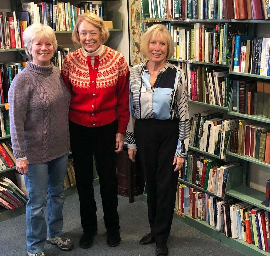 Spectrum/The Friends of the Roxbury Library recently opened The Next Chapter, a bookstore, at Hodge Memorial Library and Museum at 4 North St. in Roxbury. The store accepts book donations once a month and is open once a month for customers to shop. The store replaces the Friends annual book sale. Funds made at the store benefit library programs at Hodge, the town's original library, and Minor Memorial Library, the town's modern library. Above are Friends co-presidents, from left to right, Cindee Hopkins, Sharon Faanes and Nancy Fyfield. March 2019 Photo: Deborah Rose / Hearst Connecticut Media / The News-Times  / Spectrum